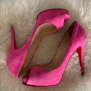 Christian Louboutin Pink Suede Very Prive (38.5)